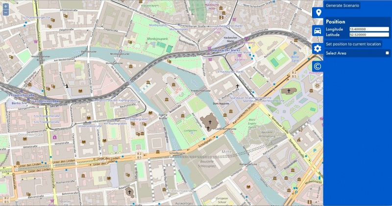 initial OSM Web Wizard view